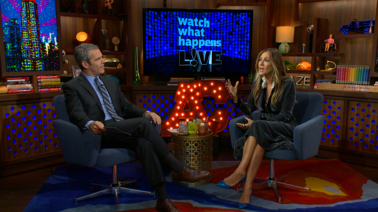 Part I: A WWHL caller asks actress Sarah Jessica Parker whether her  husband, actor Matthew Broderick, minds that Andy Cohen is always her date  to the Met ...
