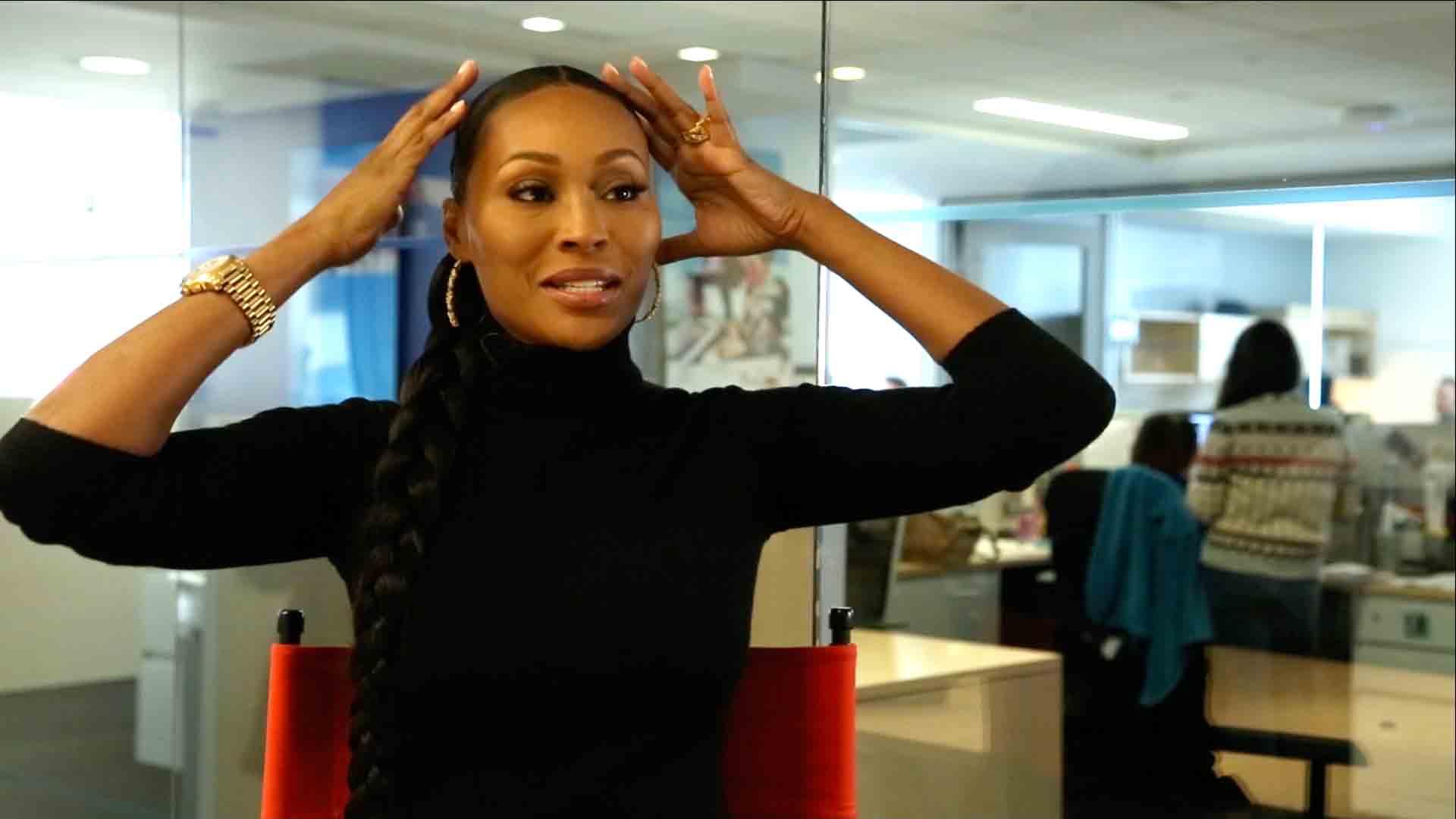 Cynthia Bailey S Natural Hair Rhoa Star Explains Quot Weave