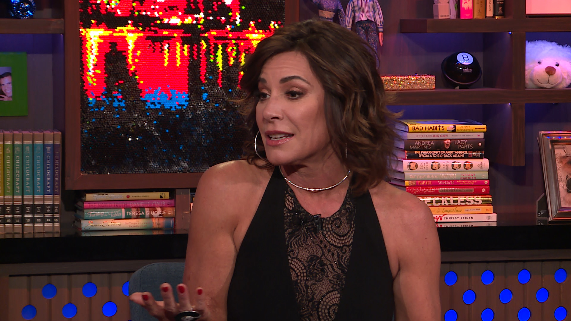 luann de lesseps from rhony addresses her controversial diana ross costume and denies attending the halloween party in blackface and also says she didnt
